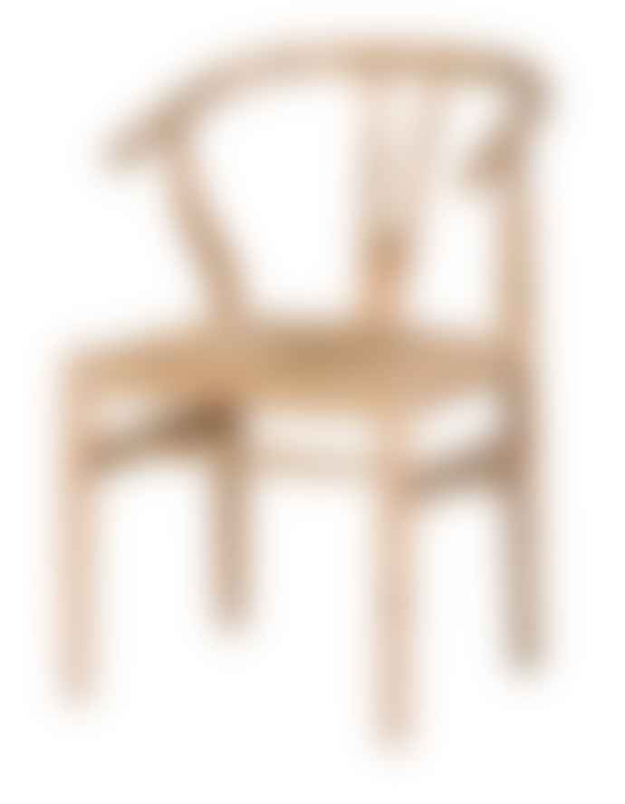 The Forest & Co. Antique Oak Wishbone Open Back Chair