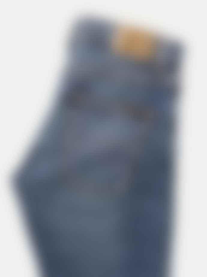 Nudie Mid Blue Indigo Grim Trim Jeans