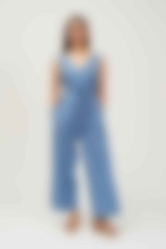 Shio Linen Jumpsuit - Cornflower Blue