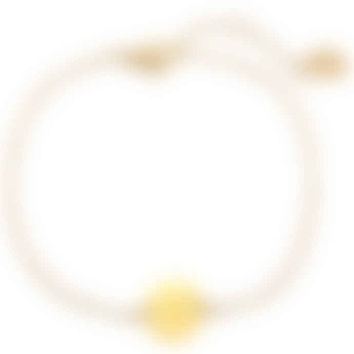 Gold Bracelet with Initial