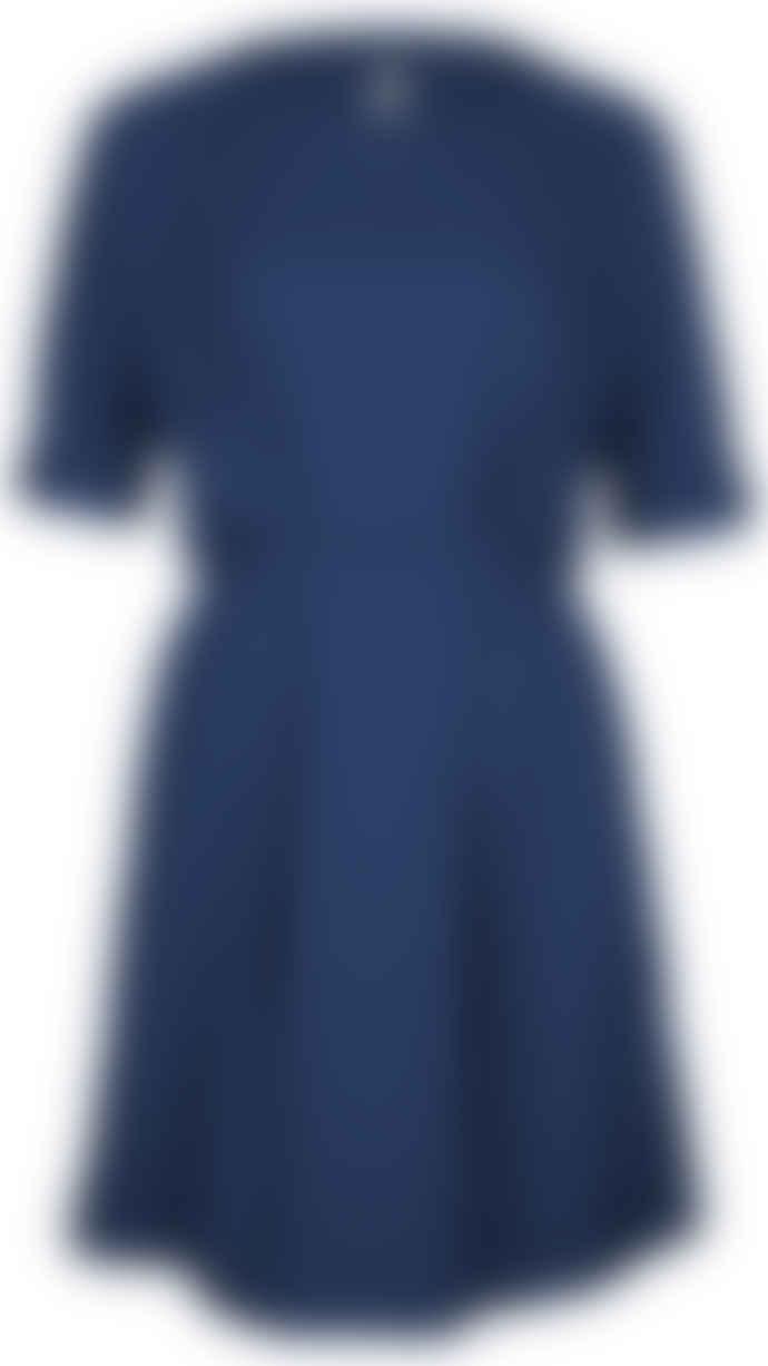 Format NEAT darkblue plain dress