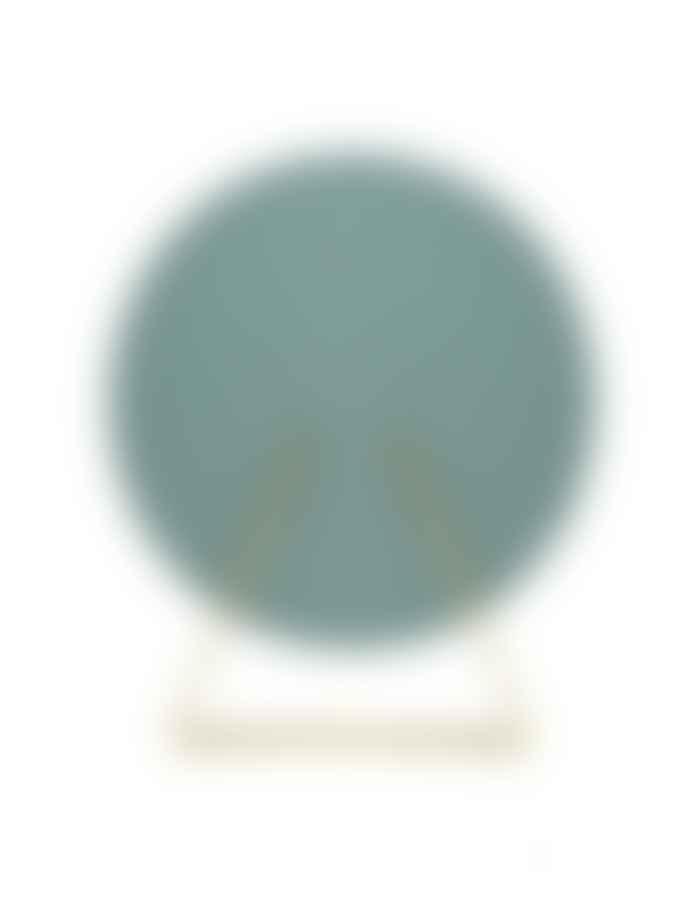 Moebe 30 cm Round Mirror W Brass Stand