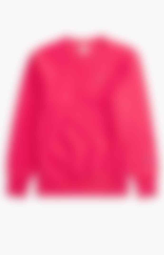 Champion Reverse Weave Crewneck Sweatshirt Bright Neon Pink