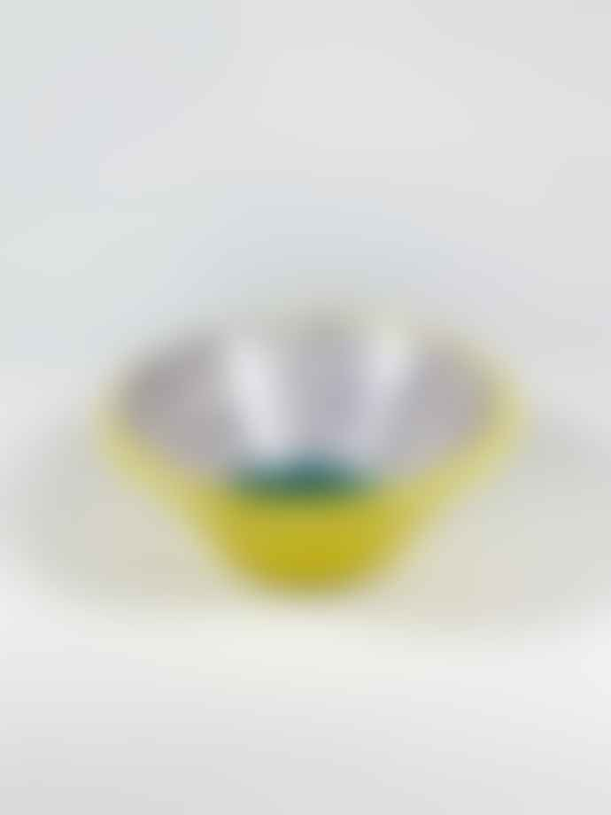 Pura Cal Memphis Terracota Blue Dots and Yellow & Teal Handmade Bowl