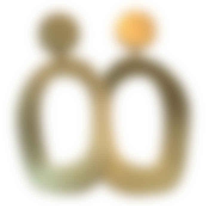 lima-lima Brass Hollow Flora Earrings