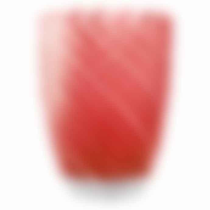 Italesse Vertigo Handcrafted Glass Tumbler Red White