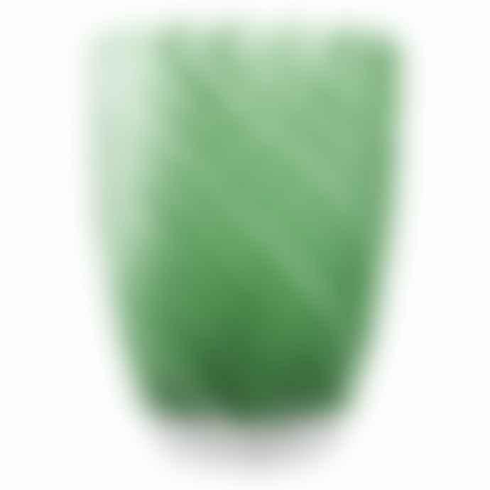 Italesse Vertigo Handcrafted Glass Tumbler Green White