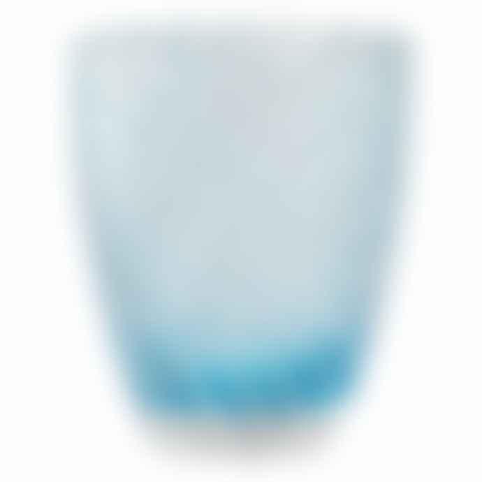 Italesse Vertigo Handcrafted Glass Tumbler Blue White