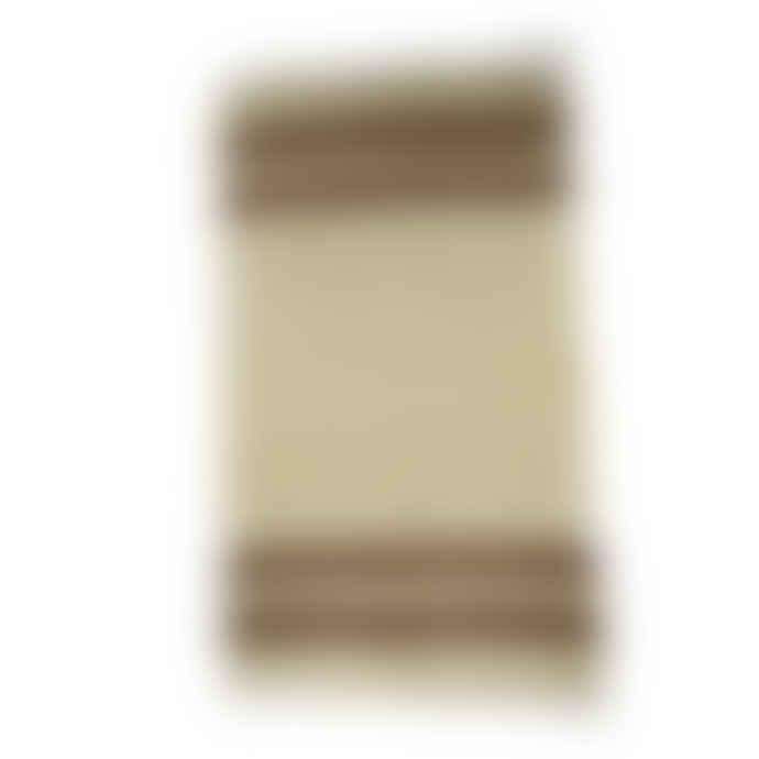 Mahala Cream & Brown Handwoven Mohair Kilim