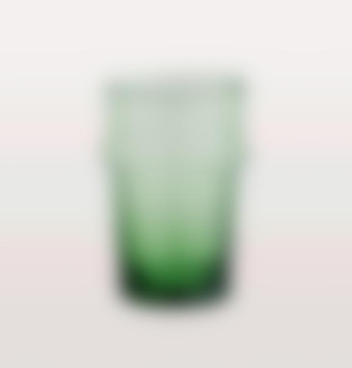 Madam Stoltz Short Beldi Green Moroccan Drinking Glass