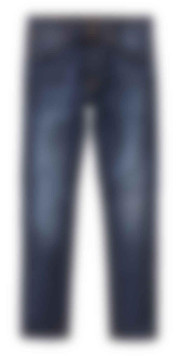 Nudie Jeans Dark Deep Worn Lean Dean Slim Jeans