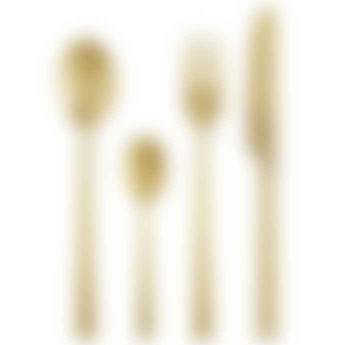 Madam Stoltz Matt Gold Stainless Steel Cutlery Set