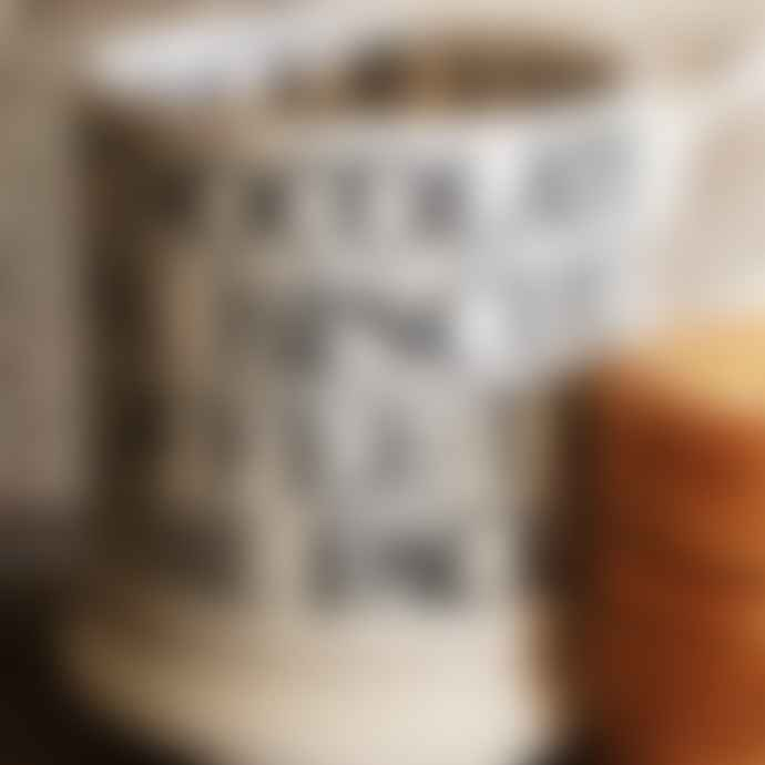 Emma Bridgewater Black Toast Earthenware All Over Writing Half Pint Mug