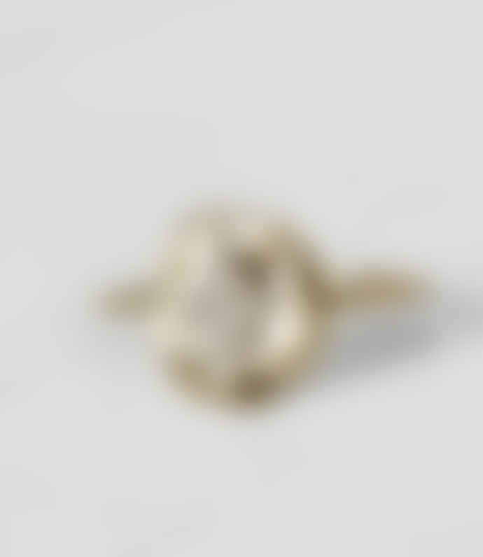 Pascale Monvoisin 1.1 x 1.9cm Gold 9K and Silver 925 Hayett Ring