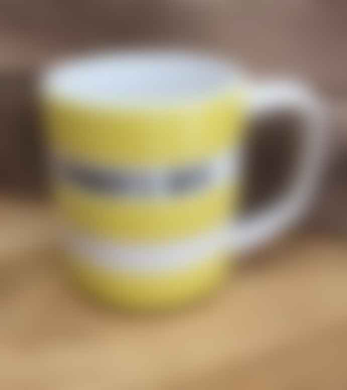 Cornishware Farmer S Wife Yellow 10 Oz Mug