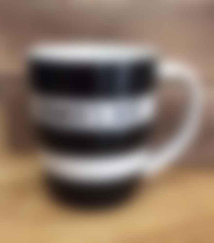 Cornishware Farmer S Wife 12 Oz Black Mug