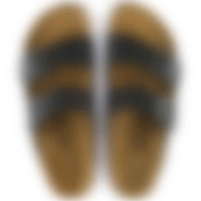 Birkenstock Black Arizona Oiled Nubuck Leather Sandal