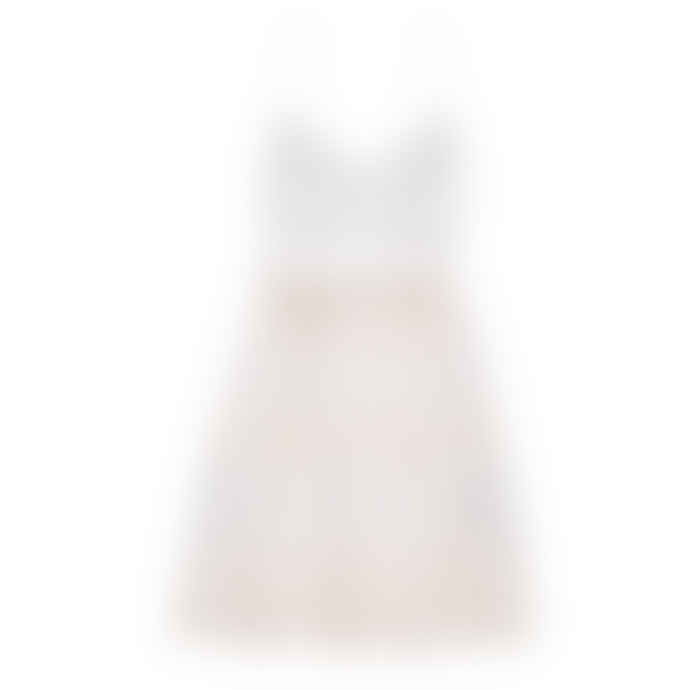 Tinsels Magda Embroidered Sun Dress in Cream