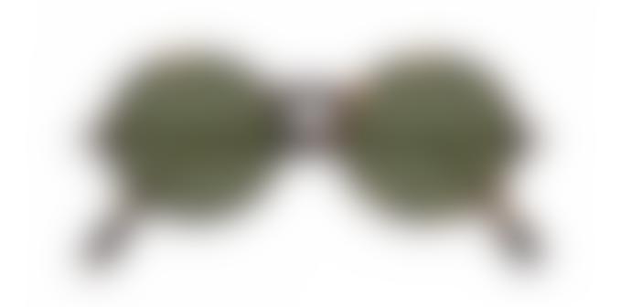 Izipizi Paris G Shape Tortoise green lenses sunglasses