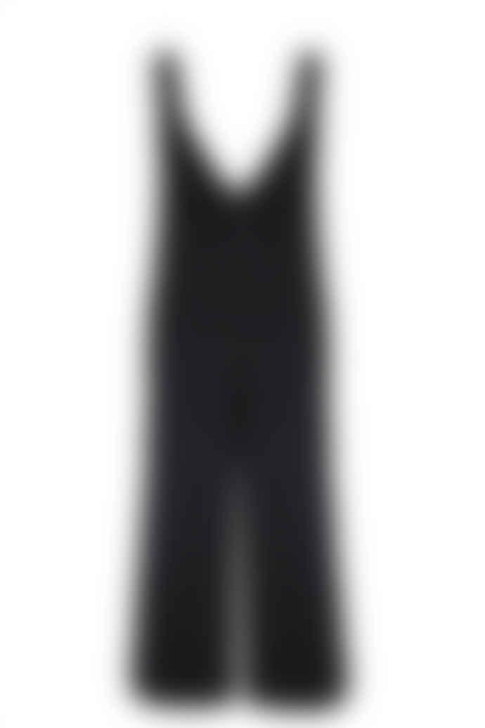 Jovonna London Black Margot Knitted Culotte Jumpsuit