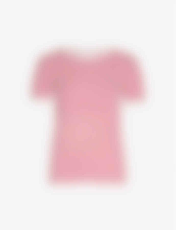 Samsoe & Samsoe Cherry Stripe Nelly Short Sleeve T Shirt