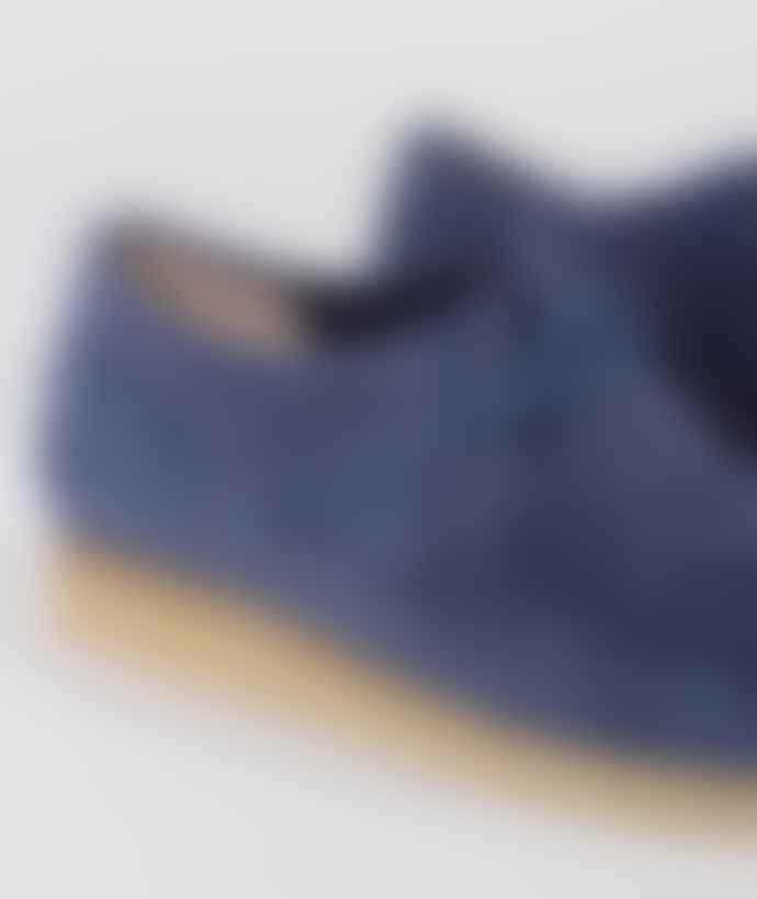 Clarks Originals Night Blue Suede Wallabee Shoes