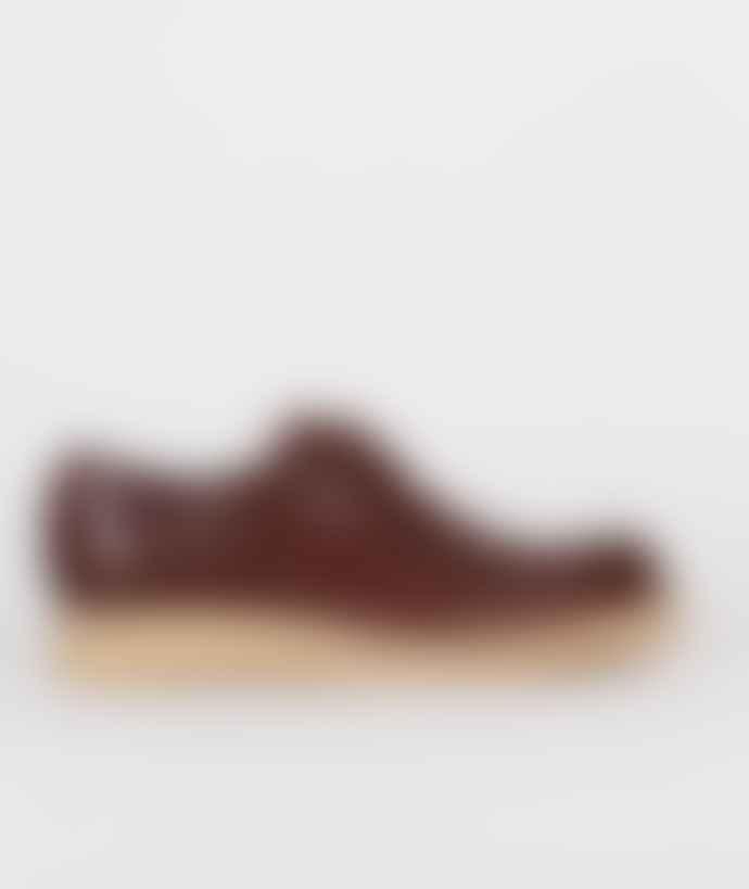 Clarks Originals Bordeaux Leather Burcott Field Shoes
