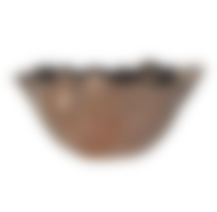 Marram Trading  Small Wave Edge Copper Bowl