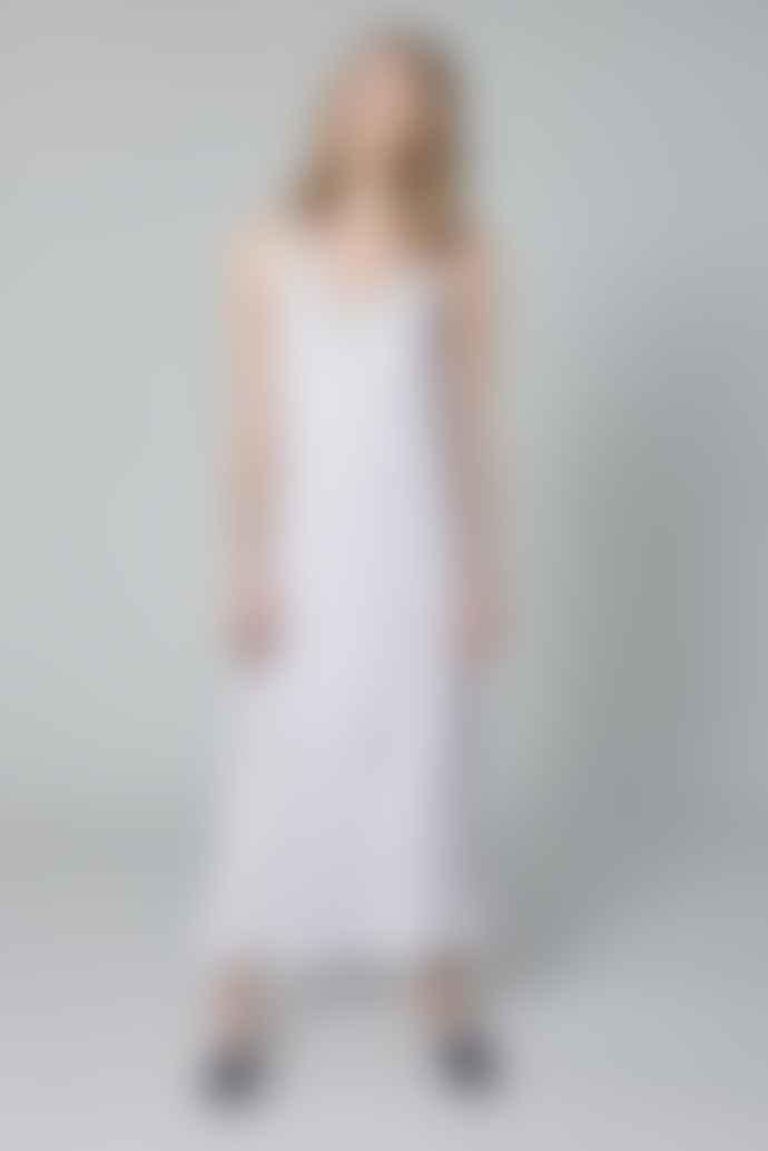 120% Lino !20% Linen Maxi Dress in Grey POW400X0115002