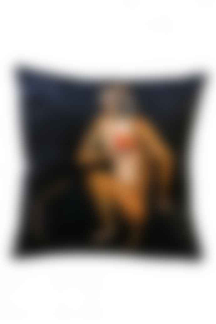 Vanilla Fly Black Ape Velvet Cushion