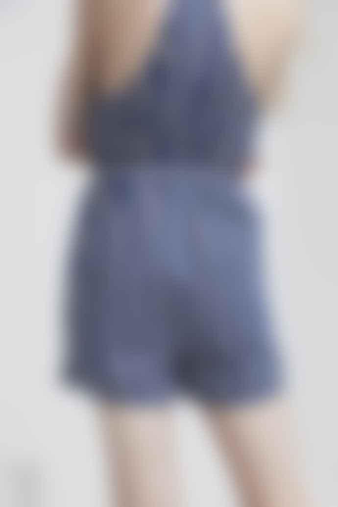 Thinking Mu Organic Cotton Vertical Stripes Bib Jumpsuit