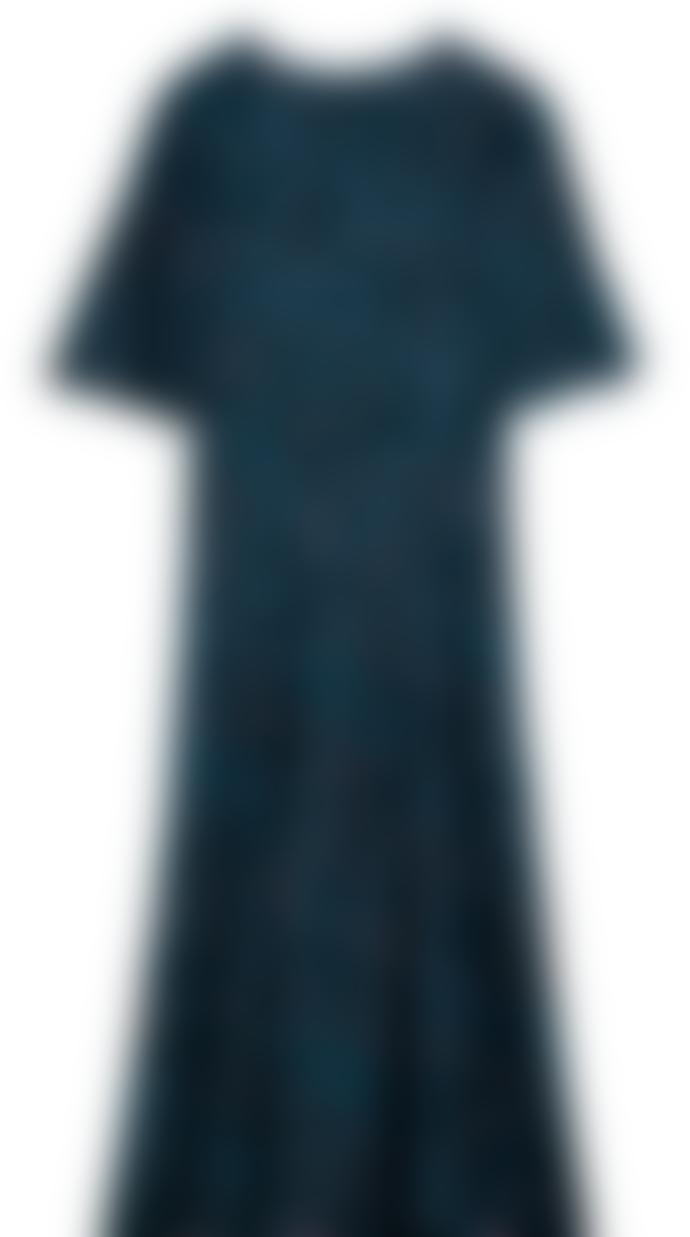 Pyrus  Dahliah Dress Blue Animal Print