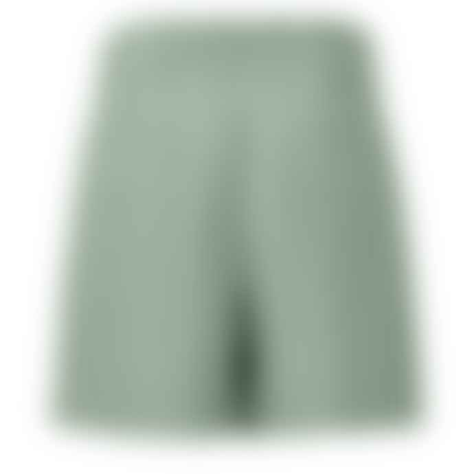 Yaya Paperbag Waist Shorts with Stripes and Tie Belt - Light Sage