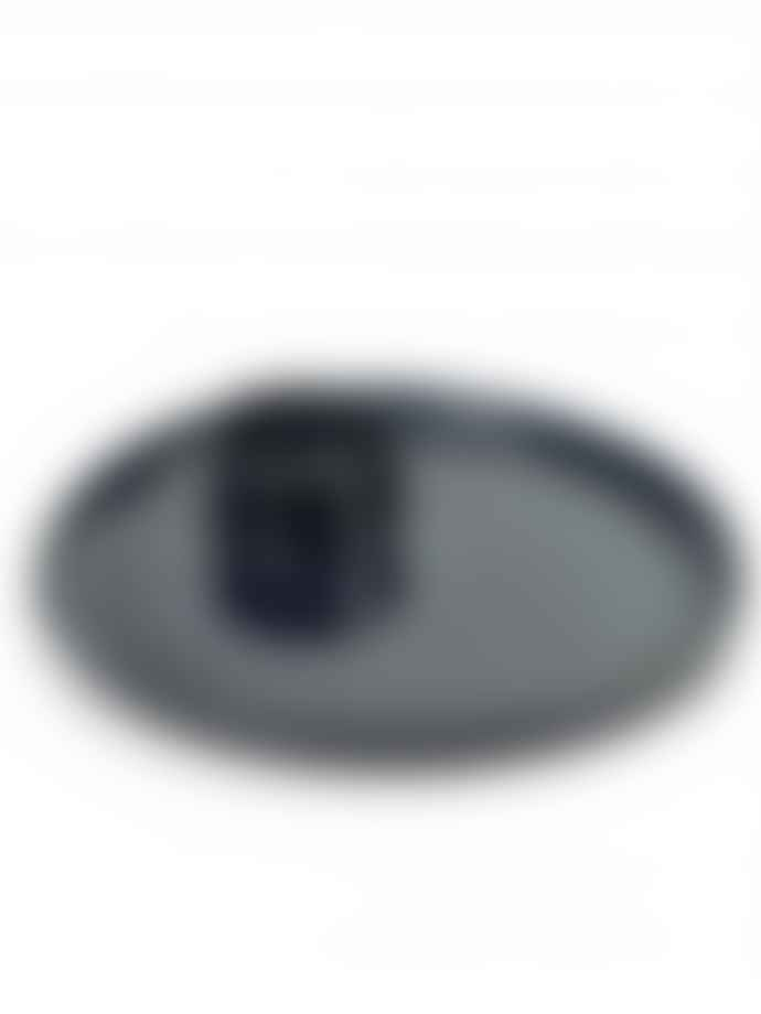 Serax Pack of 2 15 x 4.5cm Dark Blue Ceramic Egg Plate AL