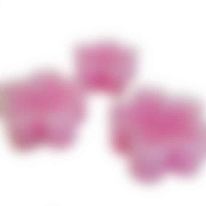 Box of 12 Pink Flower Shaped Tealight Candles