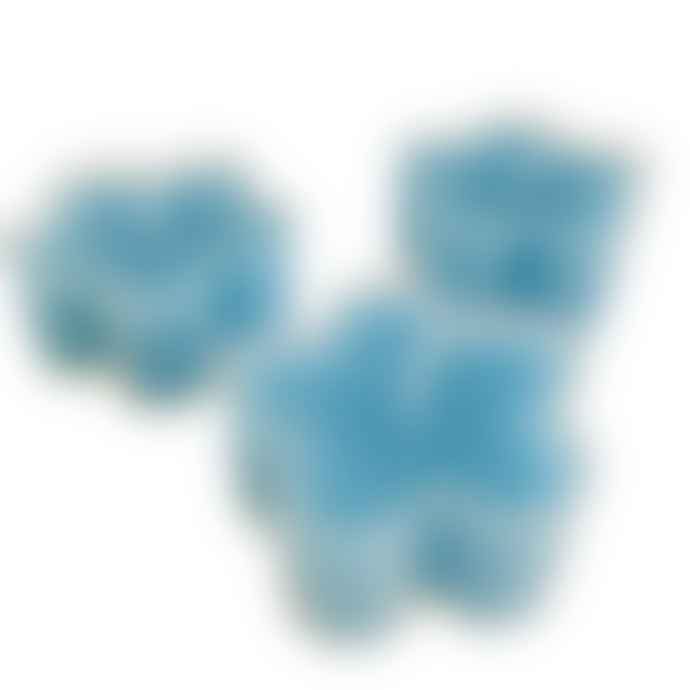 Box of 12 Blue Flower Shaped Tealight Candles