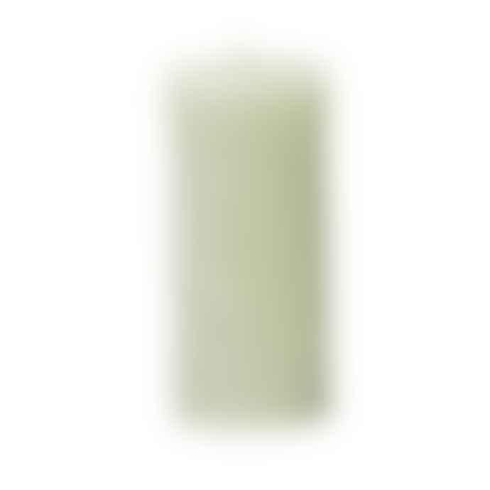 Broste Copenhagen Green Rhomb Forever Pillar Candle