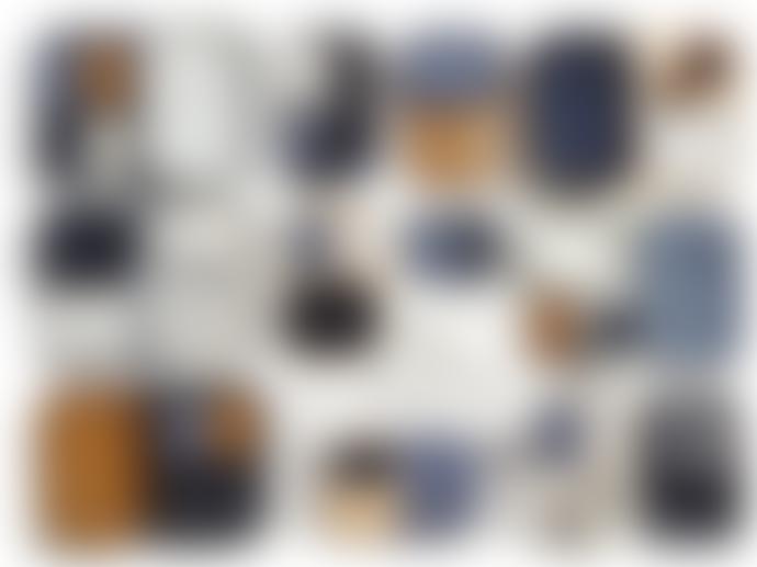 Serax Extra Large Dark Blue Stoneware Rectangular Merci N1 Tray