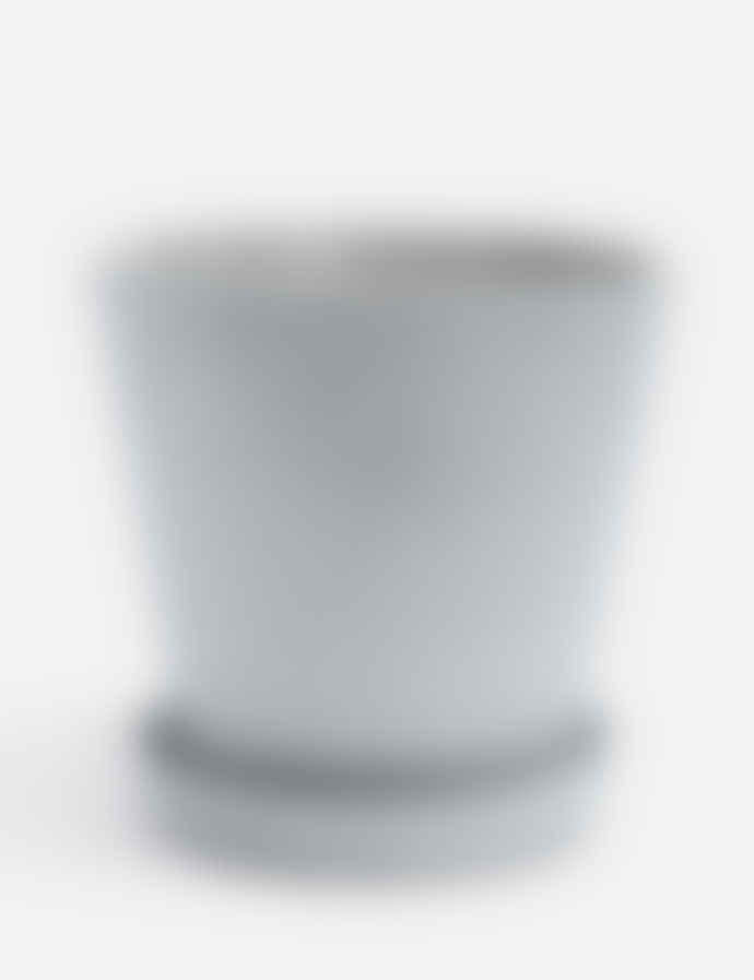 HAY Extra Large Grey Polystone Pot With Plate