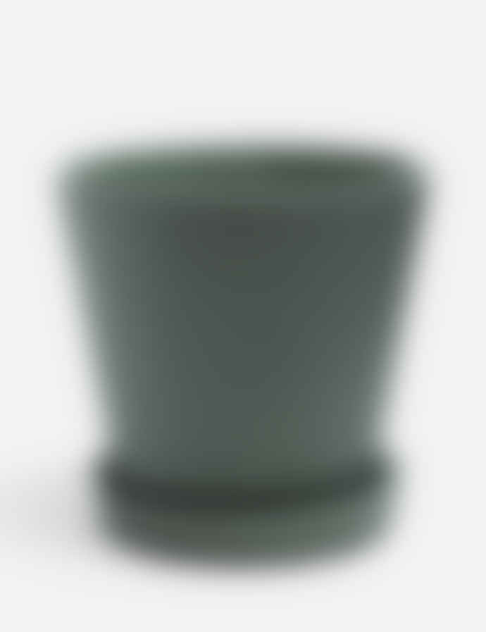 HAY Extra Large Green Polystone Pot With Plate