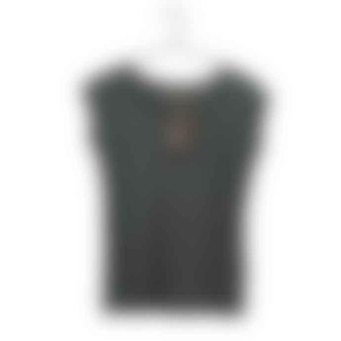 Liebling Malmo Graphite Grey Organic Cotton Raglan Cap Sleeve T Shirt