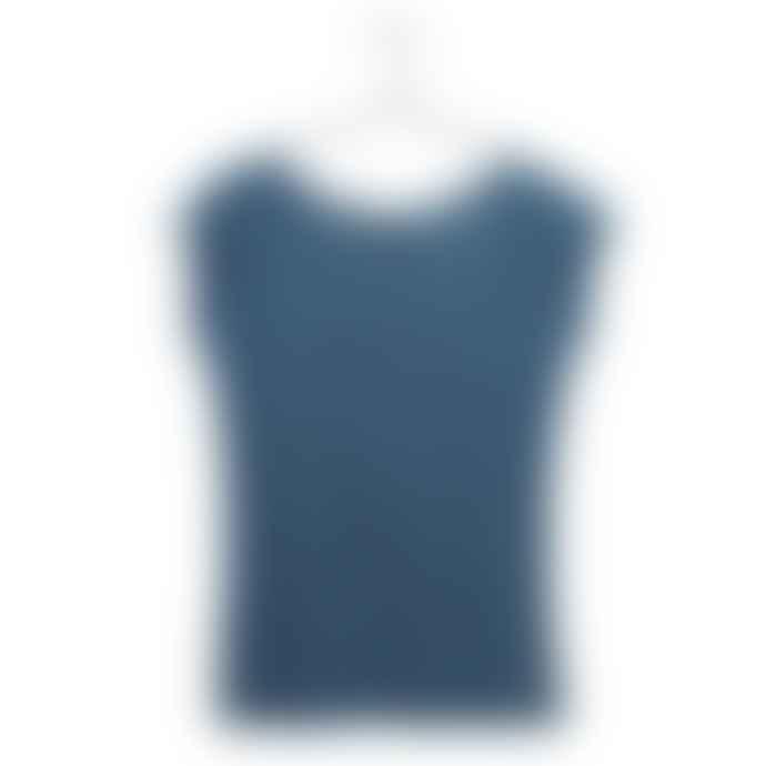 Liebling Malmo Blue Grey Organic Cotton Raglan Cap Sleeve T Shirt