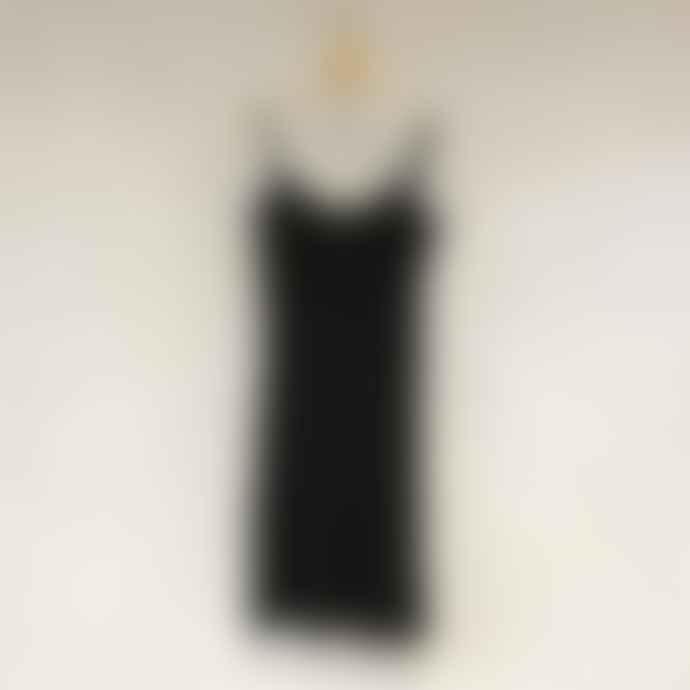Bric-a-brac Black Viscose Underwear Dress