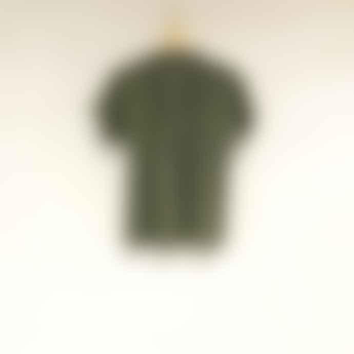 Bric-a-brac Olive Green Viscose Arravani Blouse
