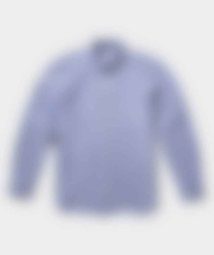 Saturdays NYC Blue Cotton Crosby Dobby Oxford Shirt