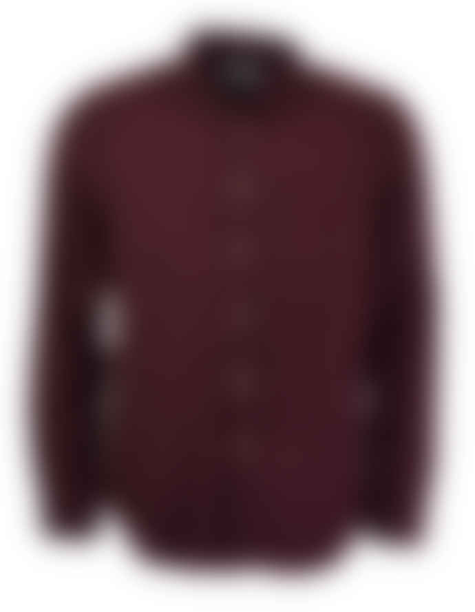 Portuguese Flannel Bordeaux Teca Long-Sleeved Flannel Shirt