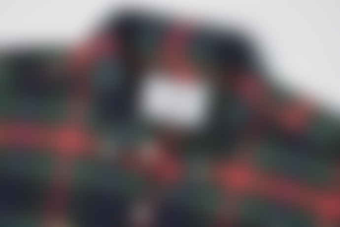 Portuguese Flannel Navy/Red/Green Scotch Check Long-Sleeved Flannel Shirt