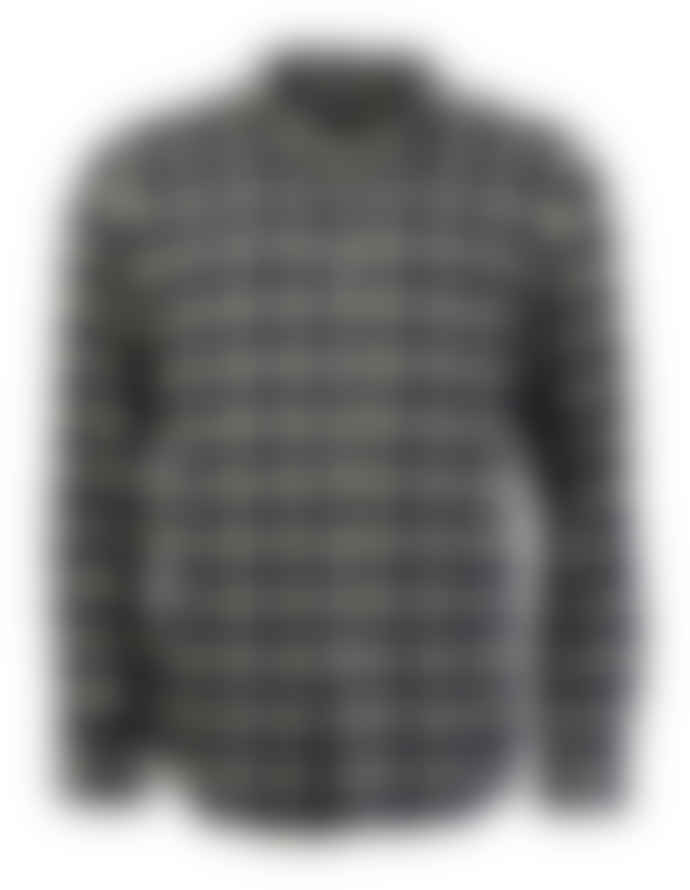 Portuguese Flannel Yellow/Navy Scotch Check Long-Sleeved Flannel Shirt