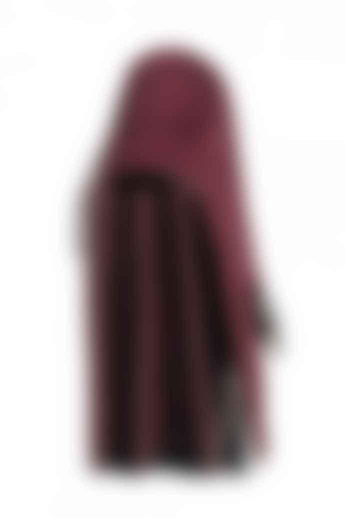 Markberg Ilrida Burgundy Suede Clutch Bag