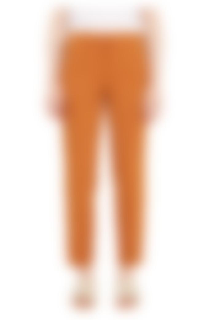 Pomandere Slim Fitting Cotton Trousers Orange